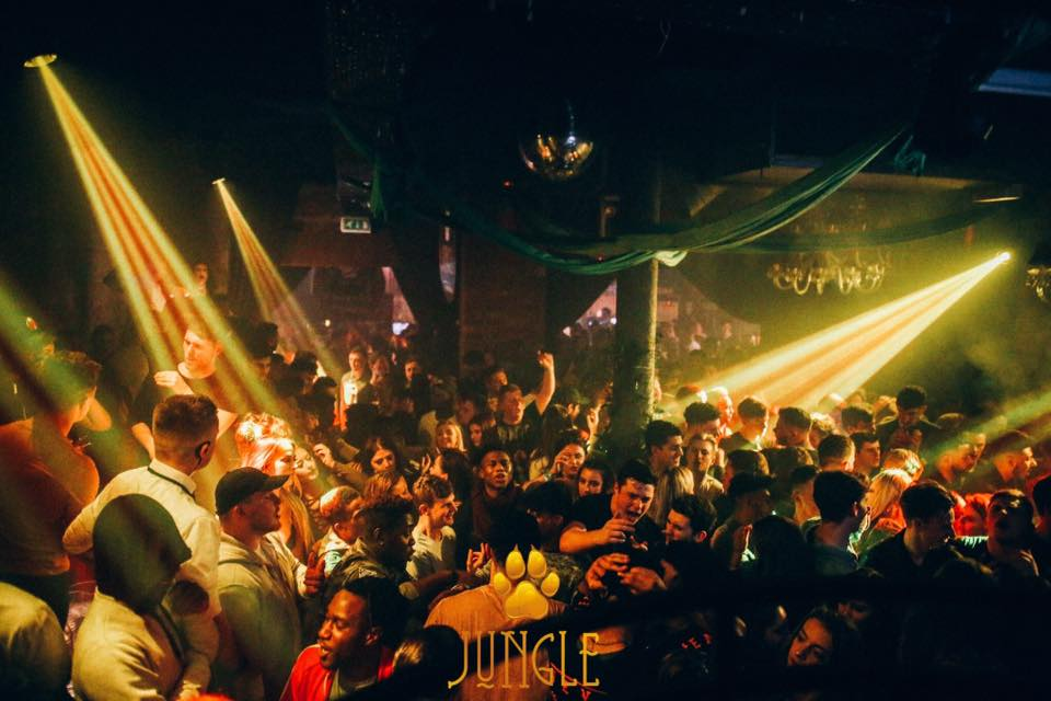 Club Night Guide to Newcastle Nightclubs, featuring people on the dance floor at the Jungle night, House of Smith