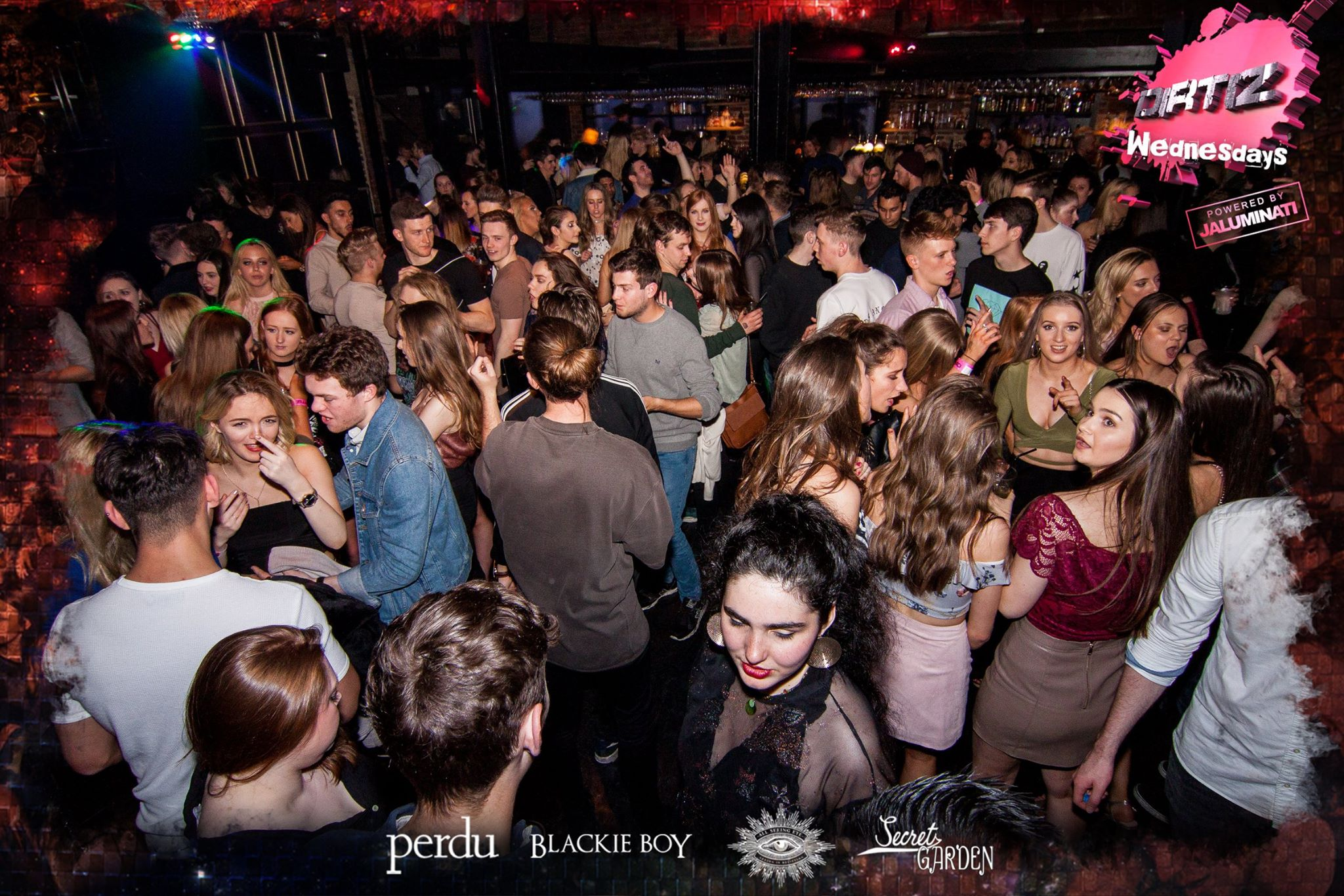 Club Night Guide to Newcastle Nightclubs, with an image of people on the dance floor at Perdu