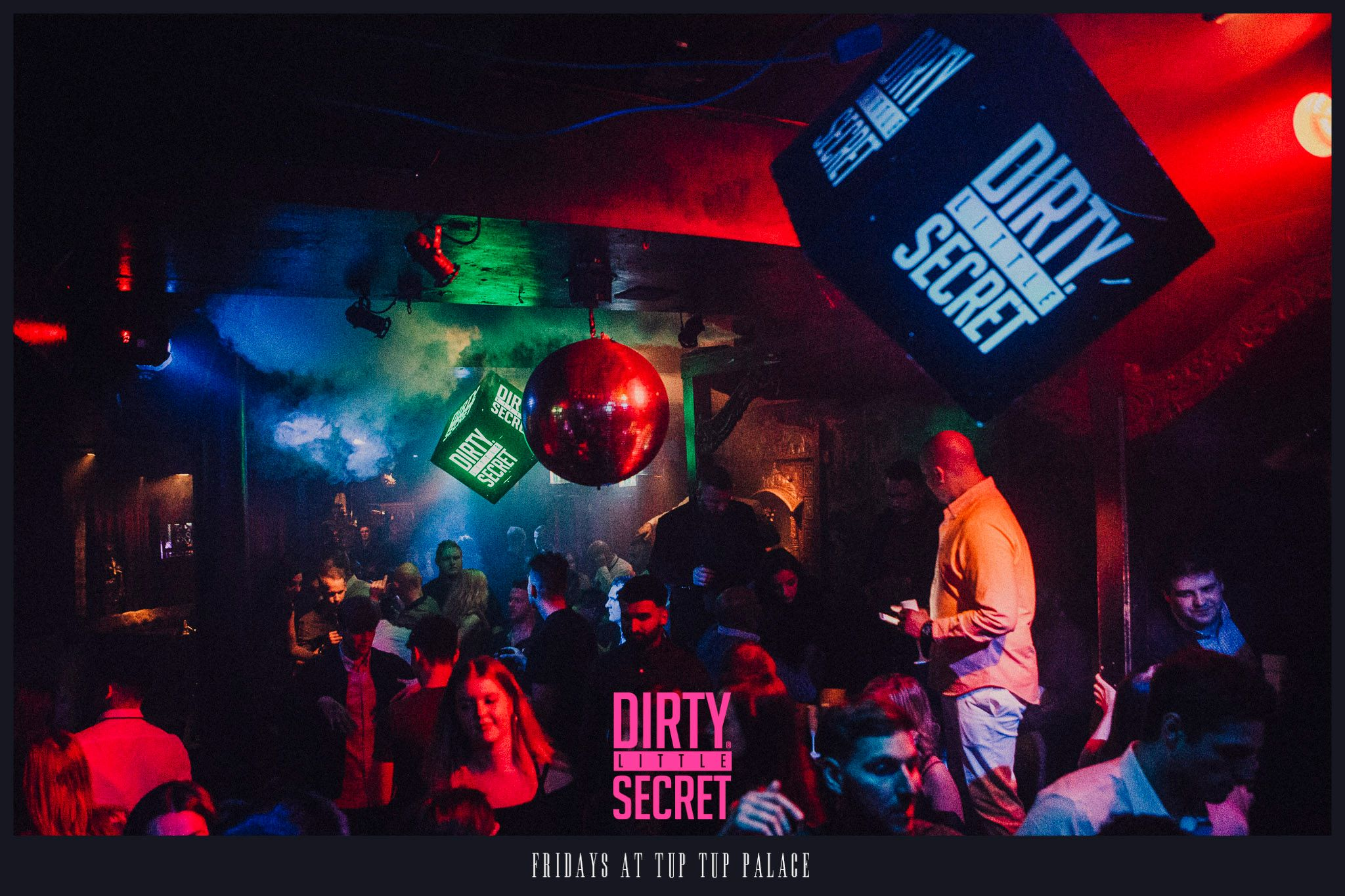 Club Night Guide to Newcastle Nightclubs, with an image of the interior of Tup Tup Palace during Dirty Little Secret