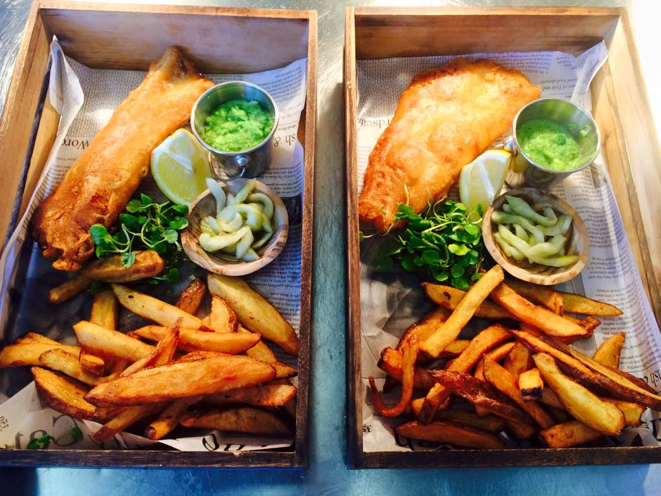 Restaurants in Newcastle , featuring an image of two boxes of fish and chips