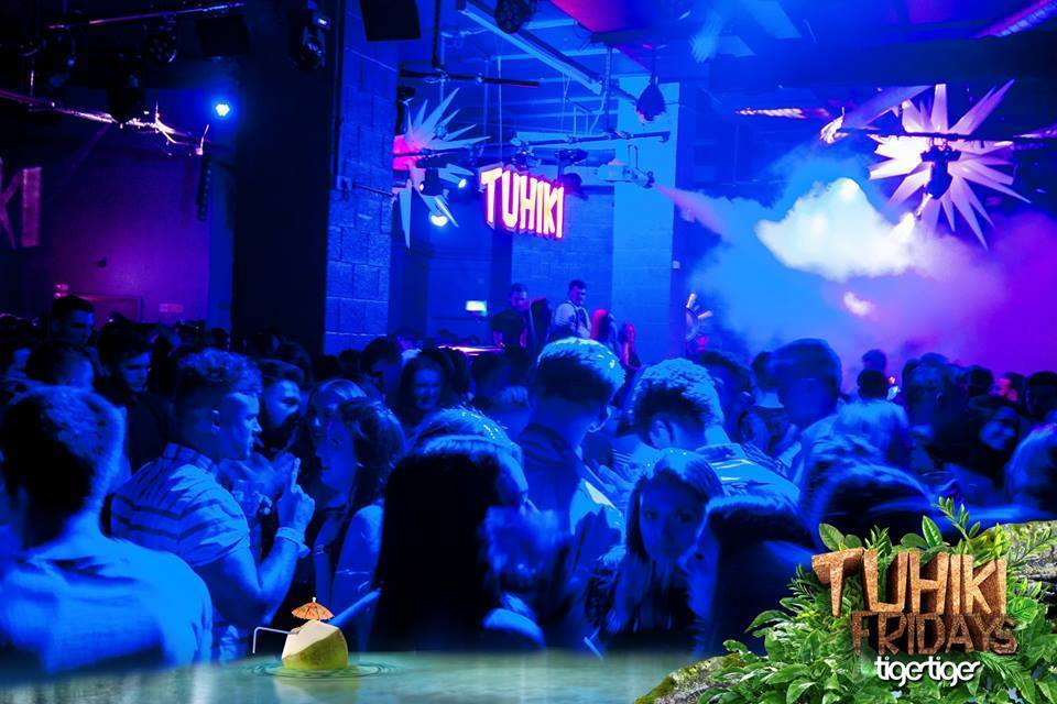 People in the Tiki themed bar in Tiger Tiger, one of Newcastle's best nightclubs