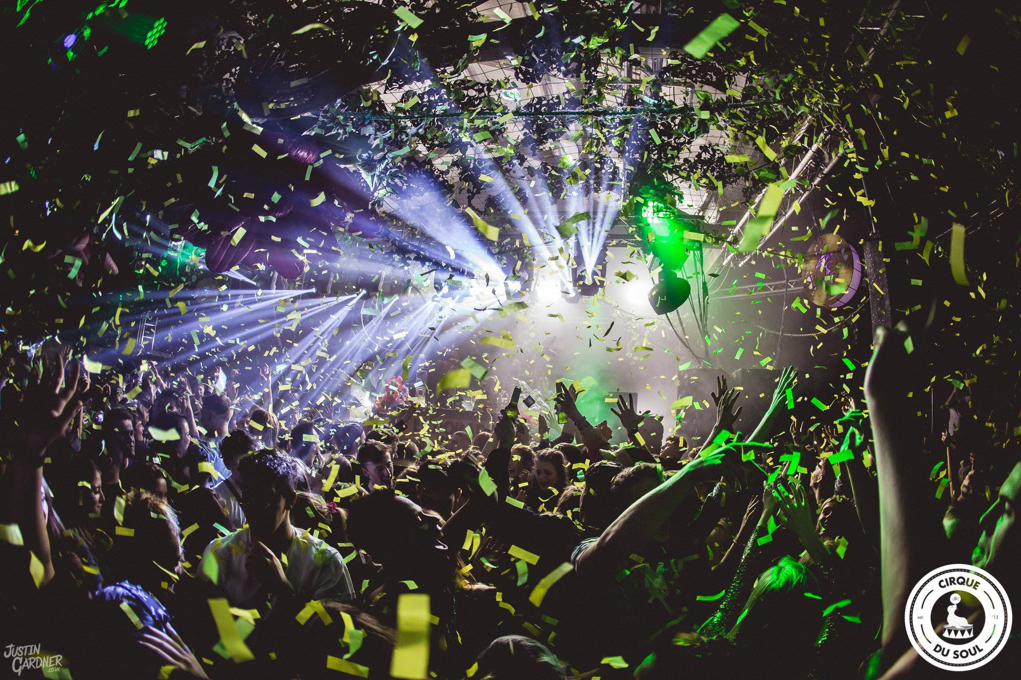 Digital Newcastle image of people on the dance floor with confetti falling on the crowd