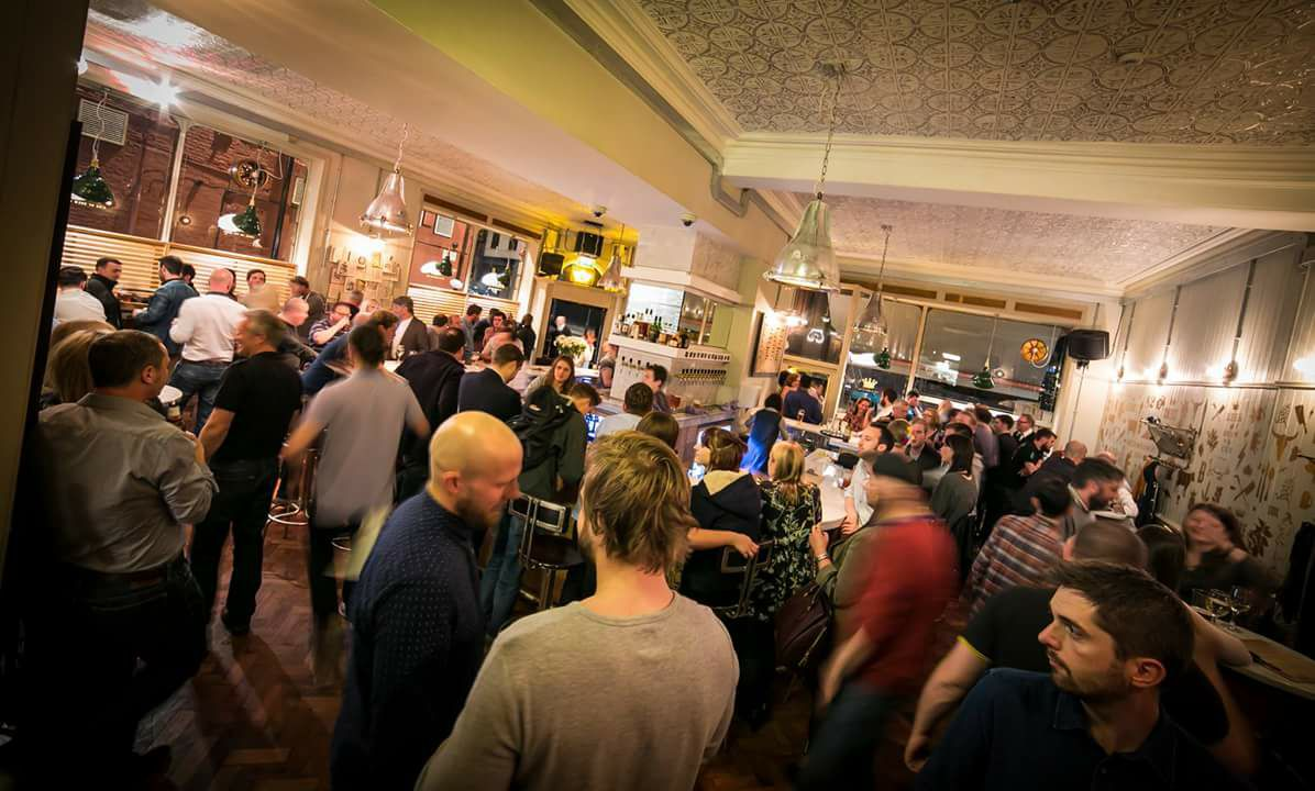 Newcastle's Craft Beer Bars, with an image of people inside the bar of Bierrex Newcastle