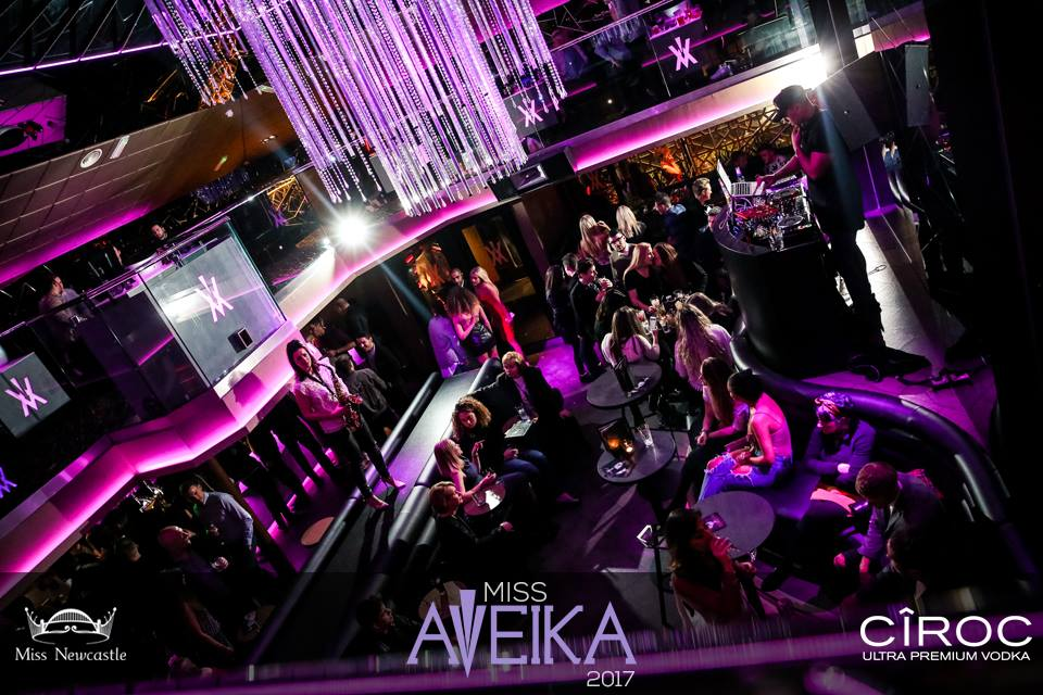 A bird's eye view of people in Aveika nightclub in Newcastle