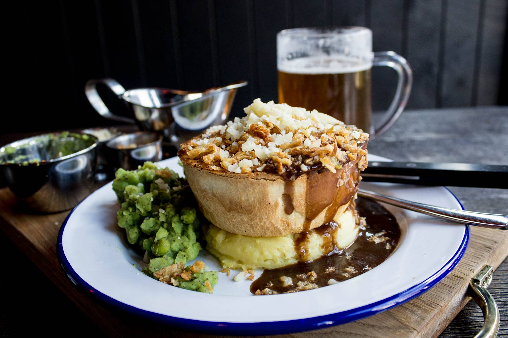 The Waiting Rooms pie and mash dish